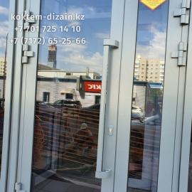 Входные Стеклянные двери от компании Коктем Дизайн