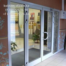 Стеклянные двери в Астане от Коктем Дизайн