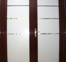 Дверь стеклянная - модель 10 - фото от Коктем Дизайн Астана