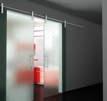 Дверь стеклянная - модель 07 - фото от Коктем Дизайн Астана