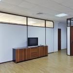 офисные перегородки глухие коричневые от компании Коктем Дизайн Астана