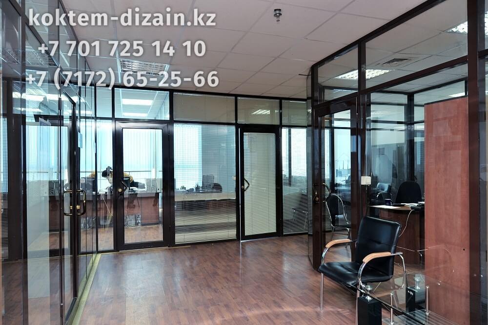 Офисные перегородки с жалюзи - фото с сайта Коктем Дизайн