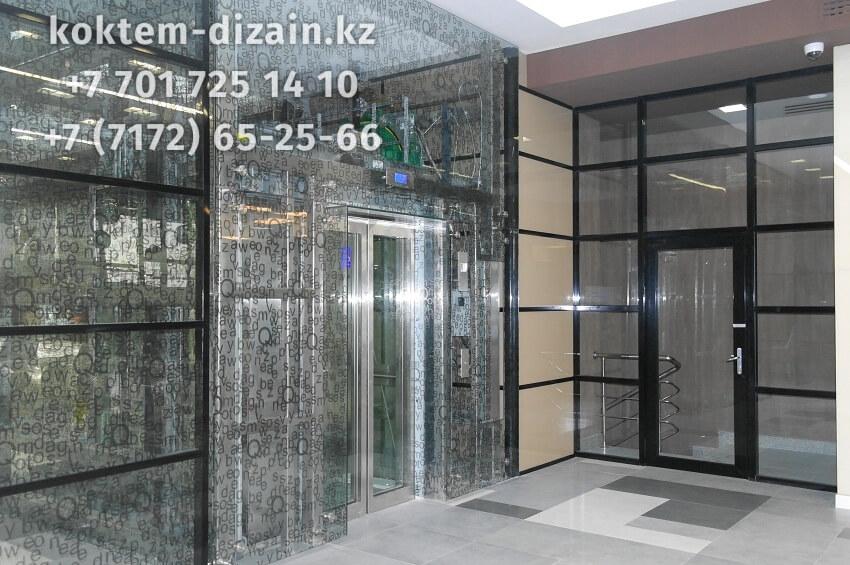 Стеклянные входные двери - фото с сайта Коктем Дизайн